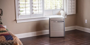 Installation of the portable air conditioner without leaks 6
