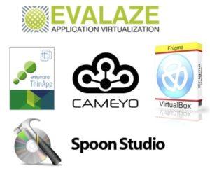 VMware ThinApp, SpoonStudio, Cameyo, Enigma Virtual Box, Evalaze