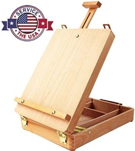 Adjustable Wood Table Sketchbox Easel
