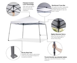 COOSHADE 8x8ft Slant Leg Pop Up Canopy Tent 2
