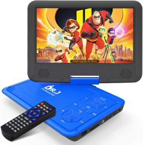 DR. J Portable DVD Player with HD Swivel Screen
