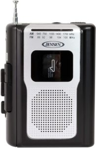 Jensen Retro Portable AM/FM Radio Cassette Player