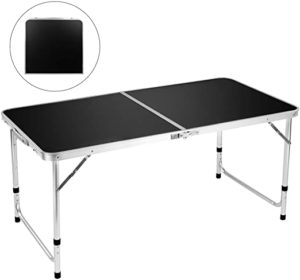 FiveJoy 4 FT Aluminum Height Adjustable Lightweight Desk