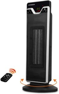 Indoor Electric Space Heater with Adjustable Thermostat