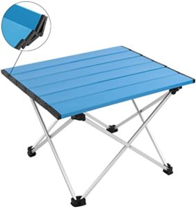 MSSOHKAN Camping Portable Aluminum Folding Table