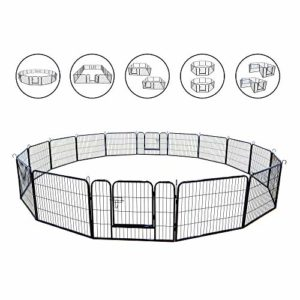 Meihua Dog Playpen Heavy Duty Foldable Metal Pet Pens