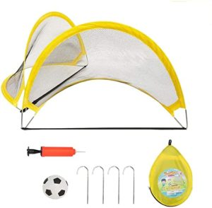 PIETFIU Pop Up Soccer Goal Kids Soccer Net for Backyard