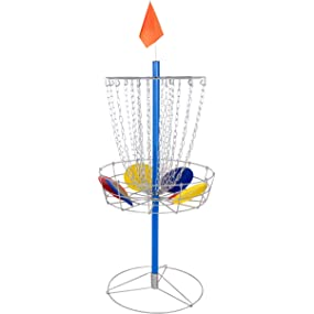 Portable Metal Disc Frisbee Golf Goal Set
