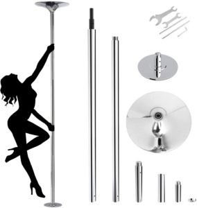 amzdeal Stripper Pole Spinning Static Dance Pole