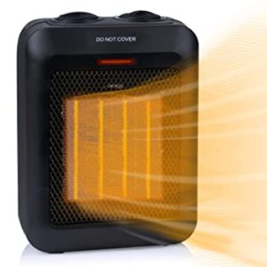 Ceramic Room Heater with Tip-Over and Overheat Protection