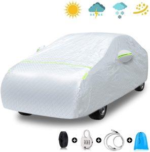 EZDOIT Car Cover Outdoor Sedan Cover