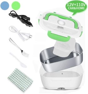 Electric Lunch Box, 2 in 1 Portable Food Warmer for Car