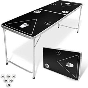 GoPong 6-Foot Portable Folding Beer Pong