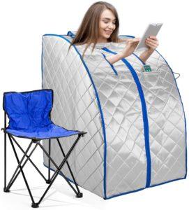 Infrared FAR IR Negative Ion Portable Indoor Personal Spa Sauna