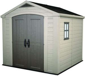 KETER Factor 8x8 Foot Large Resin Outdoor Shed