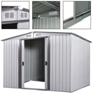 Reker White 8 x 8 ft. Steel Garden Shed