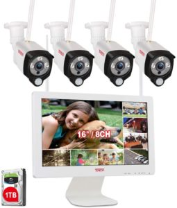 Tonton Expandable Wireless All-in-One Full HD 1080P Security Camera System