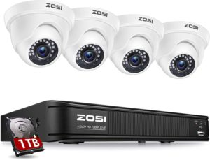 ZOSI 1080P H.265+ Home Security Camera System