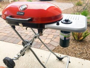 portable gas grill on wheels