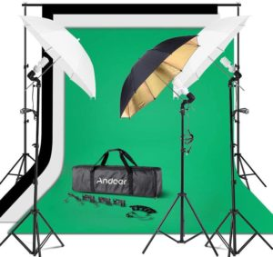 Andoer Photography Umbrella Continuous Lighting Kit