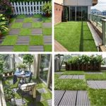 Artificial Grass Turf Tile Interlocking Self-draining Mat